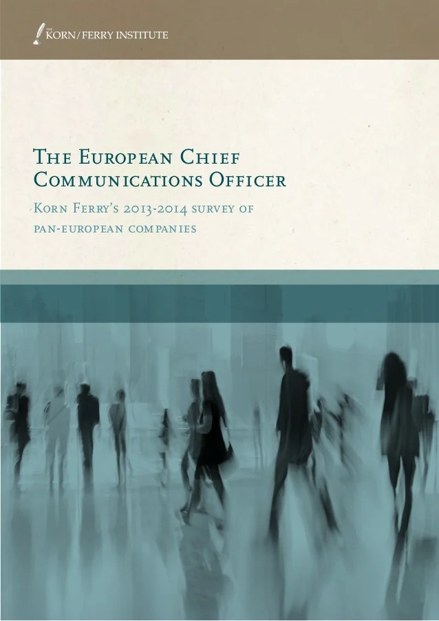The European Chief Communications Officer