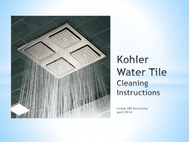 kohler water tile cleaning instructions