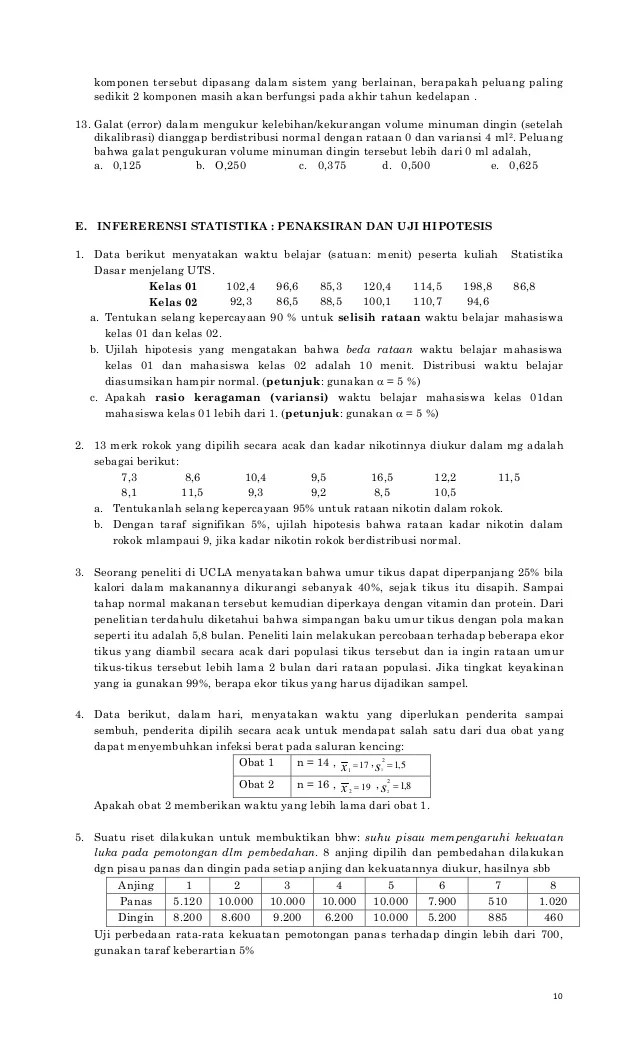 Proses pemeriksaan data, statistika deskripsi, dan statistika inferensial. Contoh Soal Statistika Dasar Dan Jawabannya Python