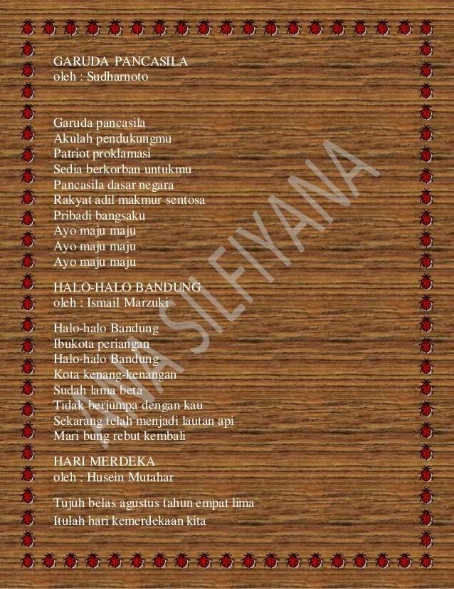 lagu kebangsaan indonesia jaya