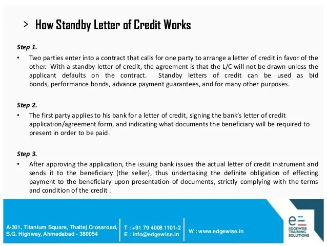 Standby Letter Of Credit In - 100 Images - Standby Letter Of