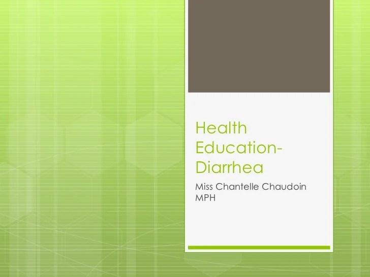 Lecture 8 diarrhea
