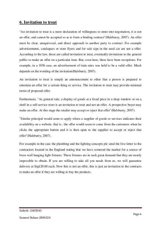 Offer vs invitation to treat cases invitationjpg 6 invitation to treat stopboris Gallery