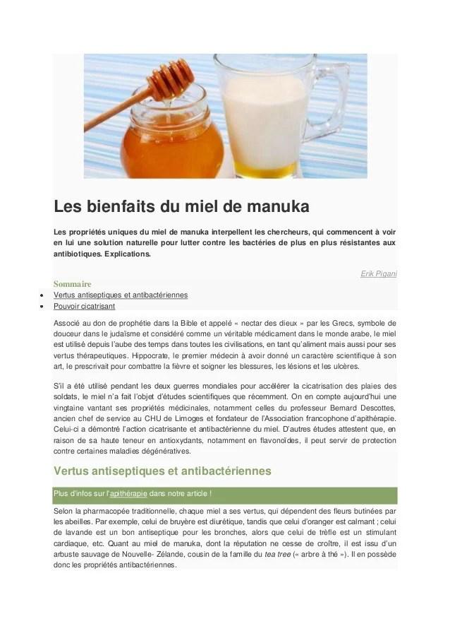 Le Miel de Manuka est-il réellement mieux que le miel standard ?