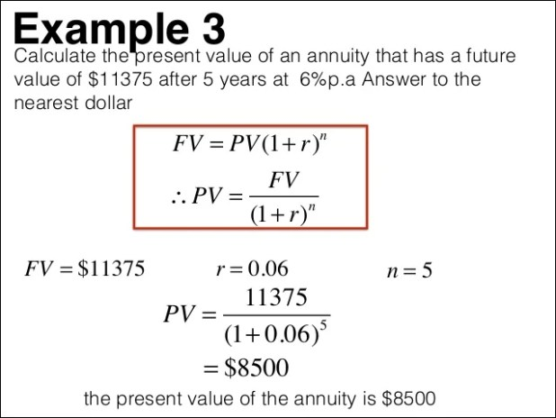present value of annuity calculator