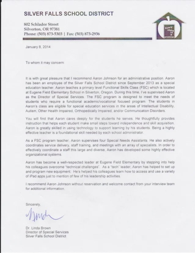 special education recommendation letter selo l ink co