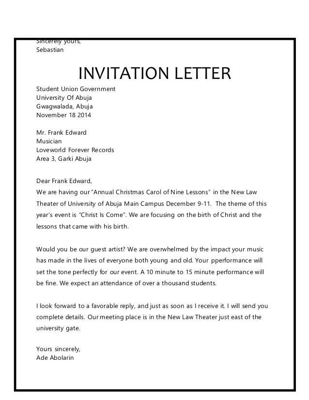 Christmas carol invitation letter sample invitationjpg letters christmas stopboris Images