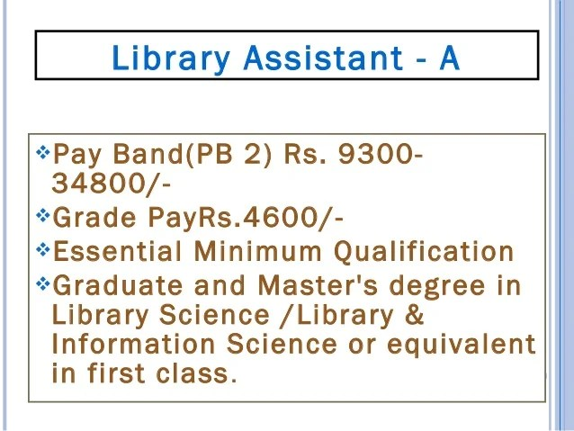 Qualification: Masters Degree in Economics/Commerce/Econometrics with a minimum of 55% Marks and a Bachelors Degree in Lib...