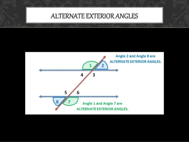 Alternate Interior Angles Real Life