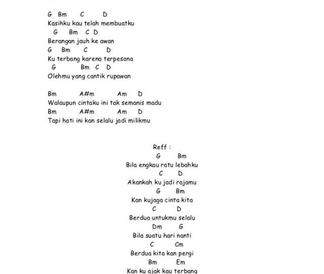 Lirik Lagu Dan Chord Ratu Lebah