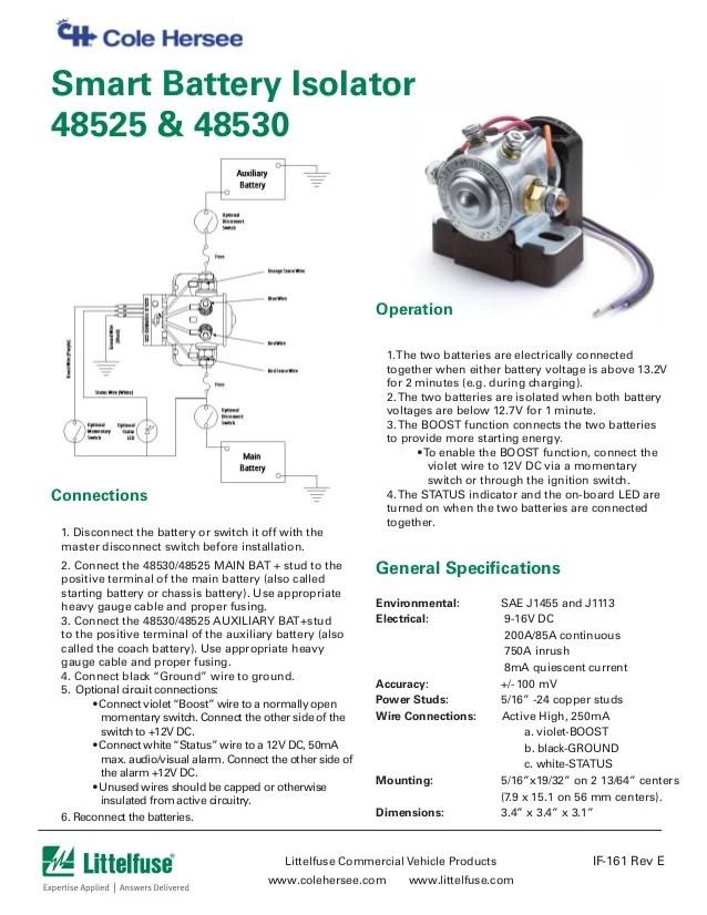 littlefuse smart battery isolator