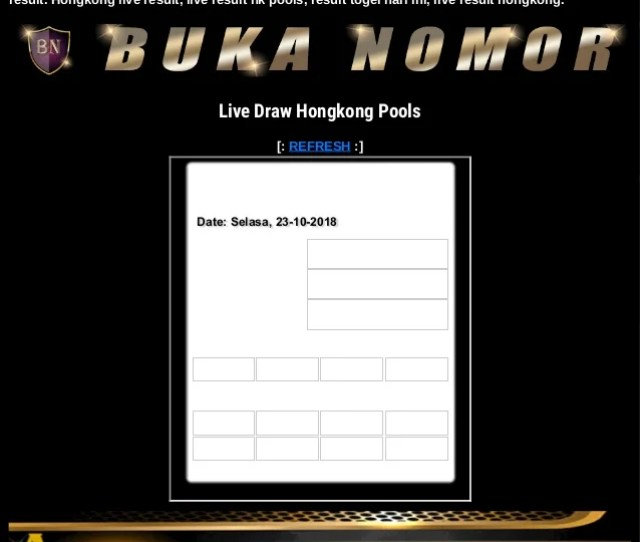 Live Draw Hongkong Pools Buka Nomor Hongkong Hari Ini