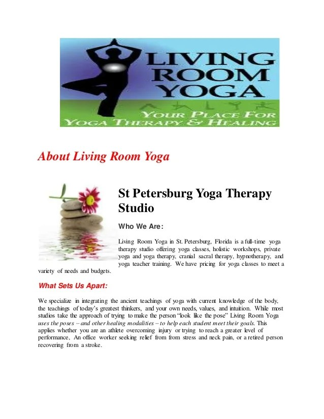 Living Room Yoga St Petersburg Fl
