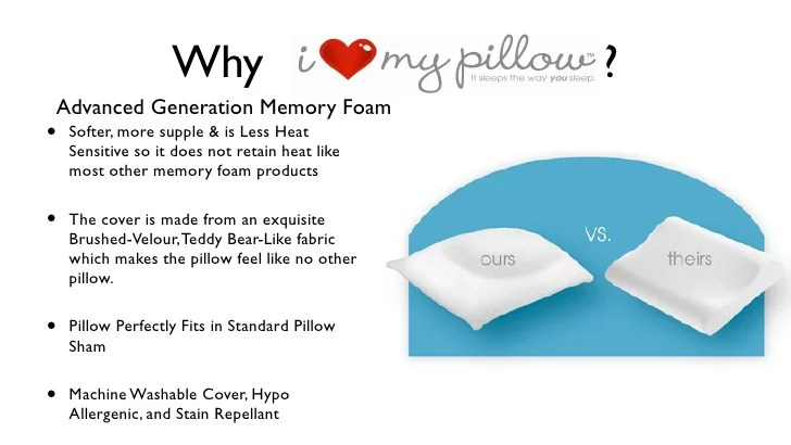 i love my pillow info