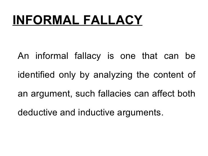 Types Informal Fallacies