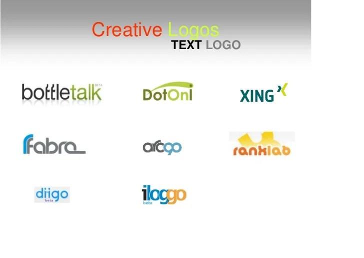Creative Logos TEXT LOGO