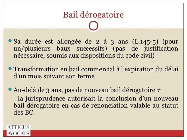 Modele Bail Derogatoire Document Online