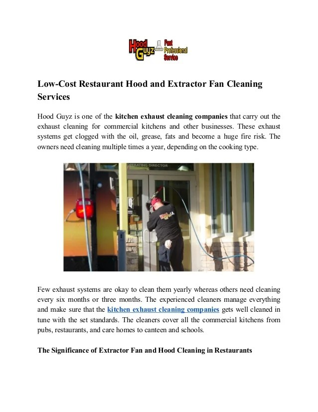 residential kitchen exhaust cleaning
