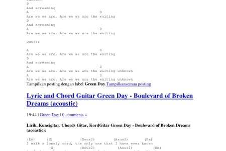 boulevard of broken dreams guitar chords » 4K Pictures | 4K Pictures ...