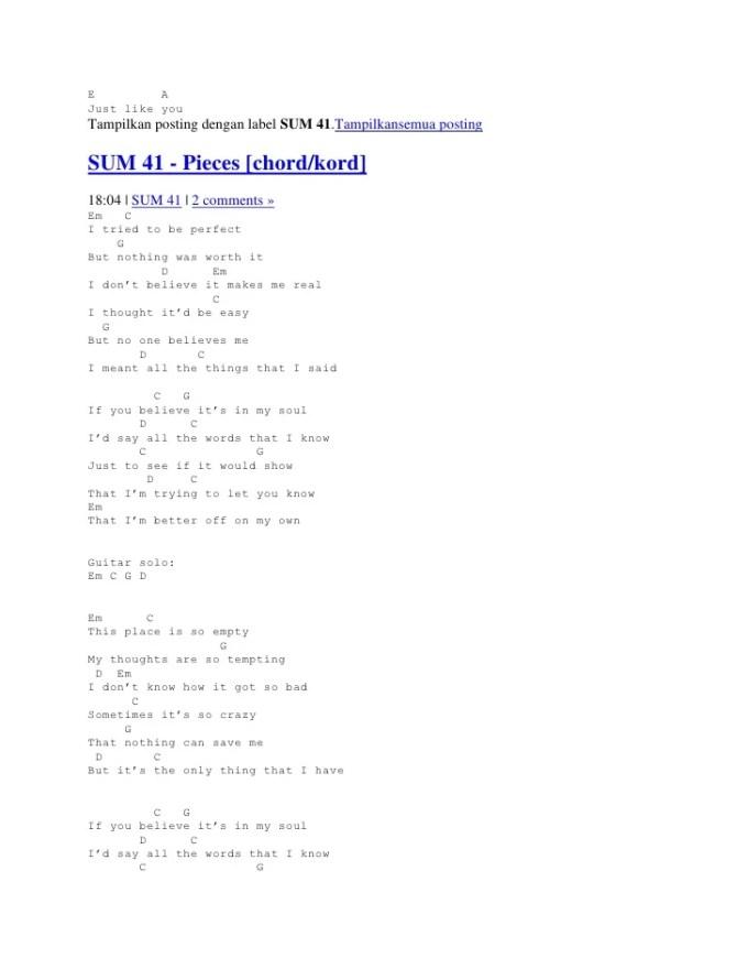 Fat Lip Sum 41 Guitar Chords Lipsviews