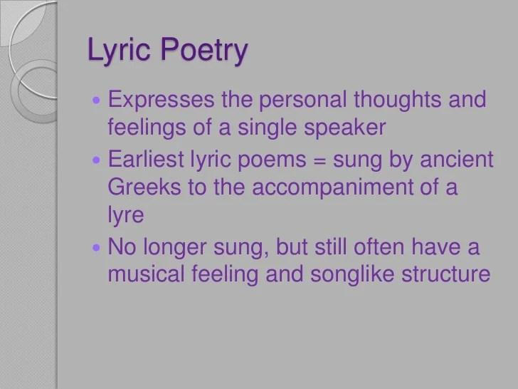Lyric poetry and wordsworth