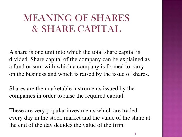 Image result for Share Capital meaning