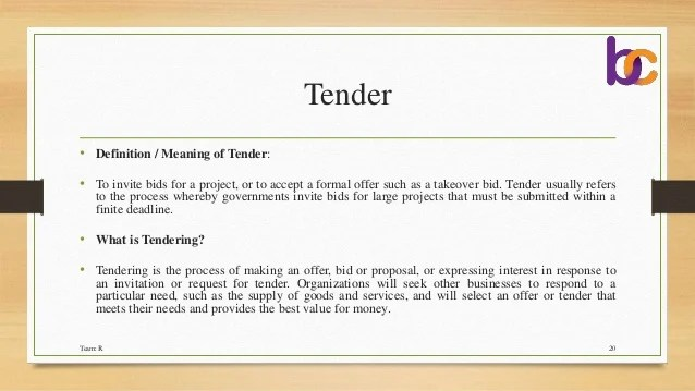 Tender Invitation Meaning Invit Redglobalmx