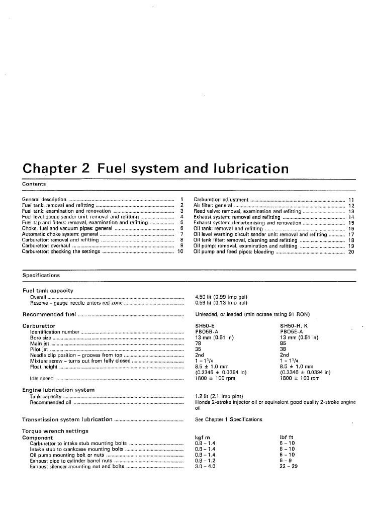 Honda Scoopy SH50 manual 4 of 6  PDF
