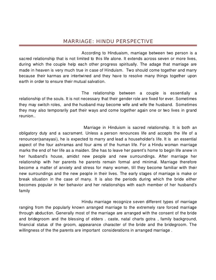 Opinion Essay Arranged Marriage Arranged Marriage My Thoughts