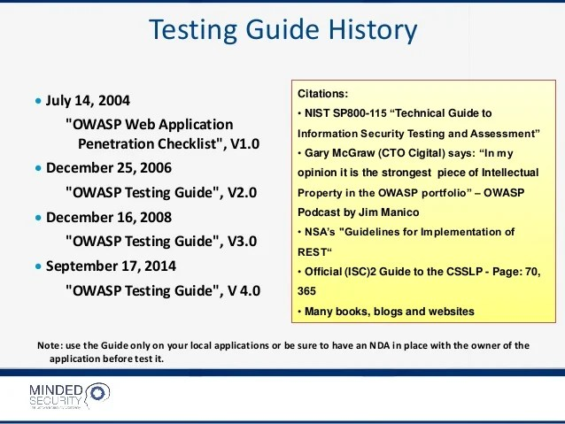 Owasp Web Application Security Checklist