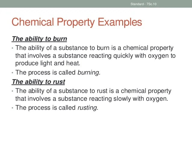 How Chemical And Used Are Are What Physical Substance Changes And They