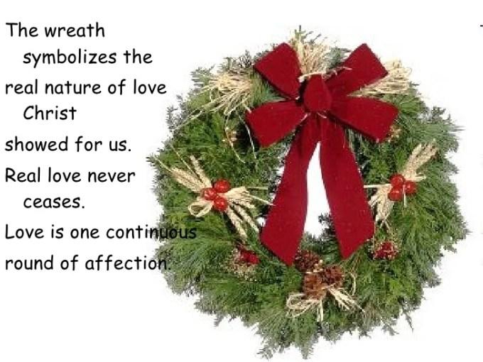 christmas wreath meaning christian