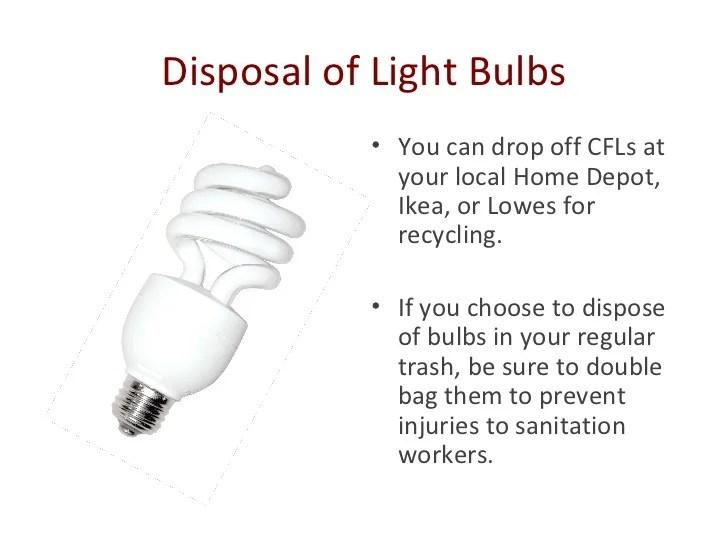Fluorescent Light Bulbs Disposal Home Depot