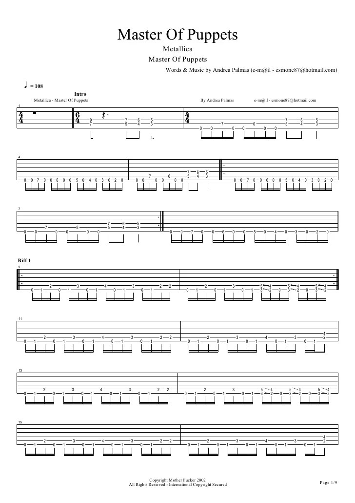 Whiskey Lullaby Guitar Tabs