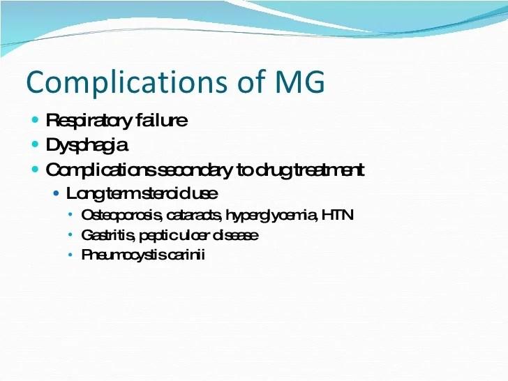 Myasthenia Gravis Long Term Prognosis