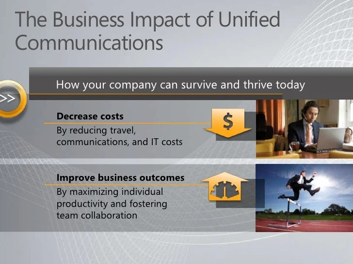 Microsoft Unified Communications - Overview Presentation