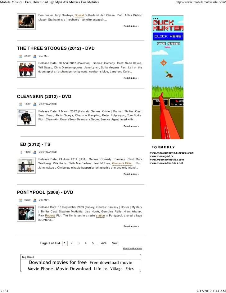 MobileMovieSite.Com free download 3gp mp4 avi movies for ...