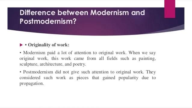 Art Postmodern Vs Modern