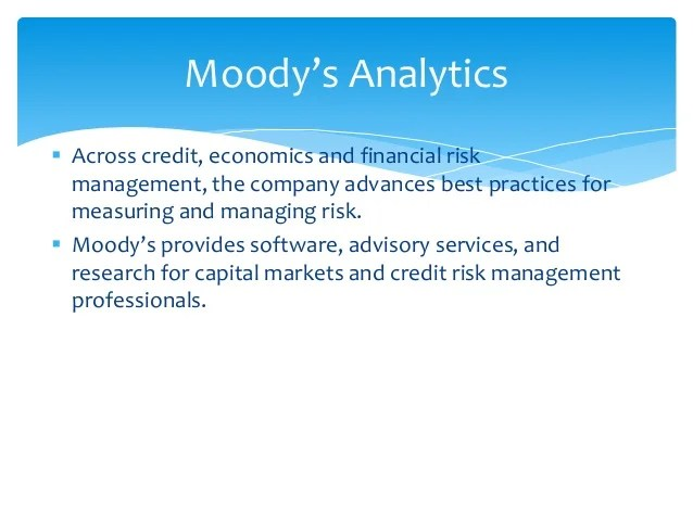 Moody's Corporation – What do They do? Including Quotes ...
