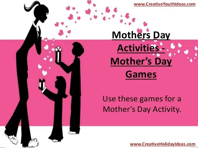 Mothers Day Activities - Mother's Day Games