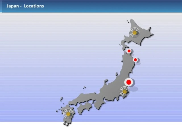 Powerpoint Japan Map