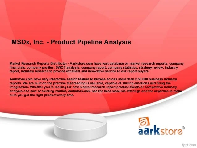 Ms Dx, Inc. Product Pipeline Analysis