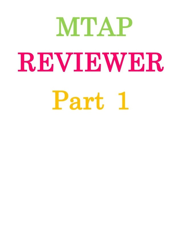 Grade Reviewer Mtap 6