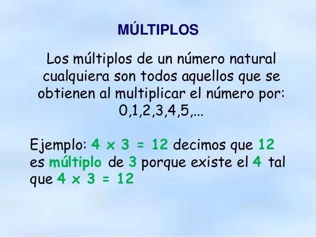 Resultado de imagen de que es un multiplo de un numero