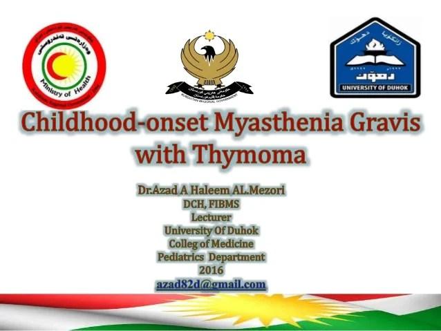 Thymoma Myasthenia Gravis