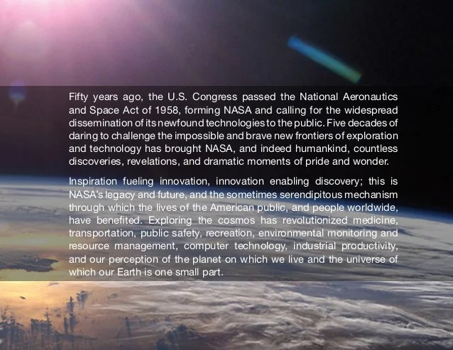 50 Years of NASA Derived Technologies 19582008