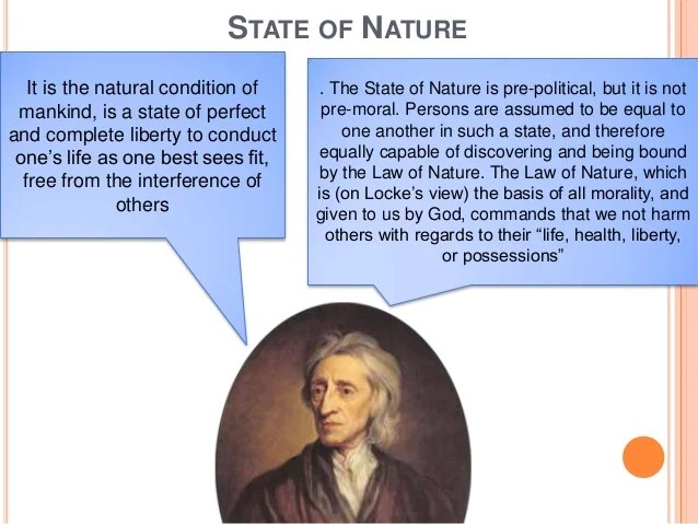 Nature of man, state of nature and social contract  john