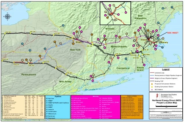 New Proposed Pipeline Route for Kinder Morgan Northeast ...
