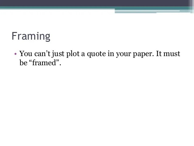 Framing Quotes In Papers   Framejdi.org