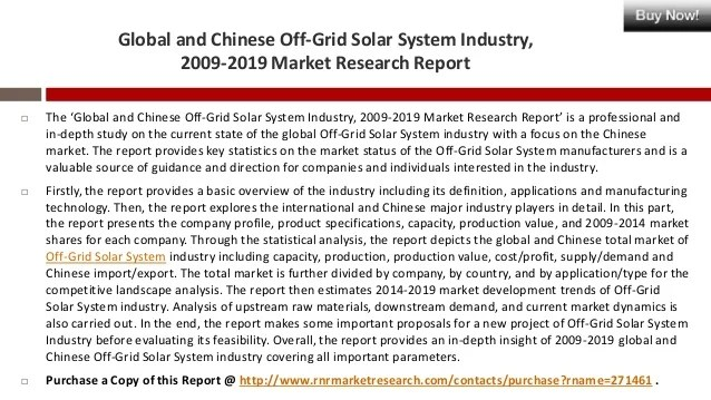 Off-Grid Solar System Industry Analysis Global and China ...